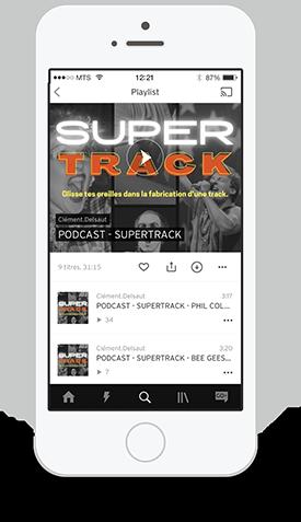 Podcast super track sur SoundCloud